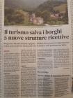 IL TURISMO SALVA I BORGHI. 5 NUOVE STRUTTURE RICETTIVE.